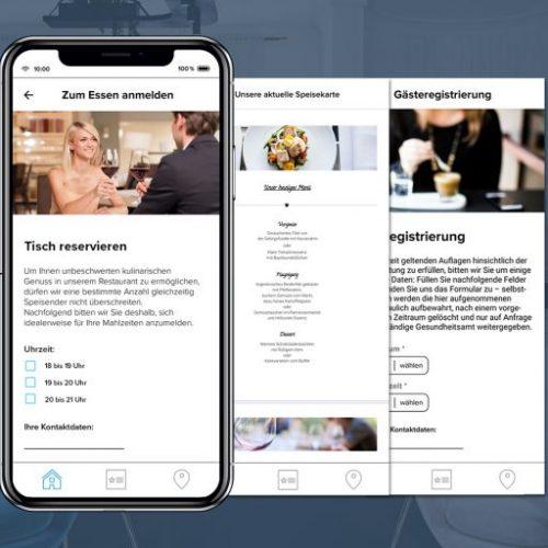 Tischreservierung, Gästereservierung etc. mit der Digitalen Gästemappe von Gastfreund